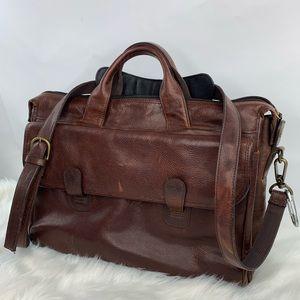 Wilson Leather Pelle studio messenger bag brown